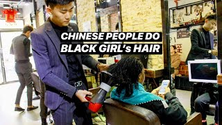BLACK GIRL GETS HAIR DONE IN CHINA🇨🇳SHOCKING RESULTS