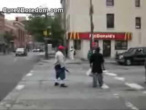 Old Man Kicks Young Kids Ass
