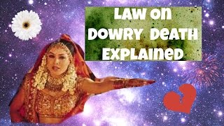 Law On Dowry Death + Case Laws