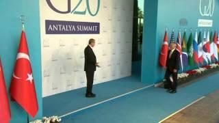 أردوغان يستقبل زعماء الدول خلال فعاليات قمة العشرين