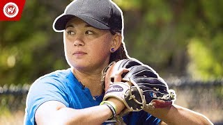 First Professional Female Pitcher?   Claire Eccles
