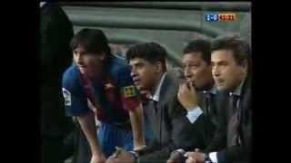 El primer gol de Messi