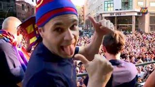 FC Barcelona – La Liga Champions Victory Parade 2016 (Best moments)