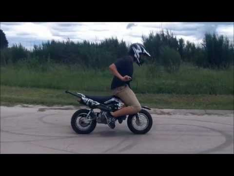 Honda 50 stunts and first 12 O clock