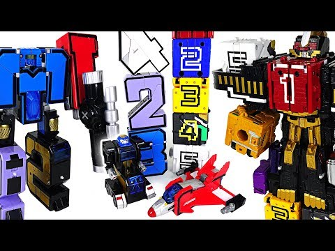 Xxx Mp4 Number 12345 Transformation Combine Robot Vs Power Rangers Zyuohger Number Cube DuDuPopTOY 3gp Sex