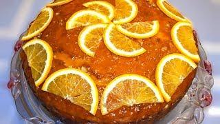 Апельсиново-сметанный торт/пирог с глазурью (рецепт) 🍊