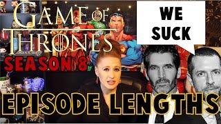 Episode Lengths Announced: Game of Thrones Season 8