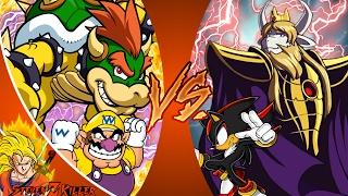BOWSER vs ASGORE! & WARIO vs SHADOW! Cartoon Fight Club Ep150 & 151 REACTION!!!