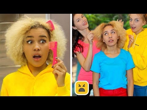 Problems Girls With Curly Hair Understand & Funny Facts Girl DIY Life Hacks
