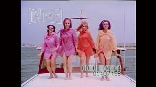 1966 Nubile Women in Bikinis Dance to Popular Band  on Yatch Stock Footage HD