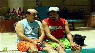 #بيني_وبينك | مناحي يلقي بصديقه في حمام السباحة
