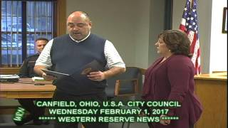 City of Canfield State Auditor Award Presente by Jim Arminie 02-01-17