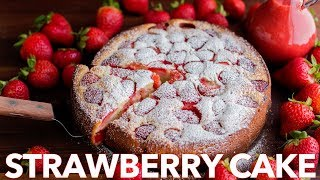 Easy Strawberry Cake with Strawberry Sauce - Natasha