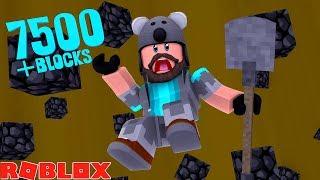 I DUG THROUGH THE BOTTOM!! 7500+ BLOCKS!! | ROBLOX TREASURE HUNT SIMULATOR!