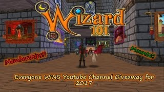 Wizard101 2017 Everyone Wins Free Giveaway Subscriber Appreciation Event