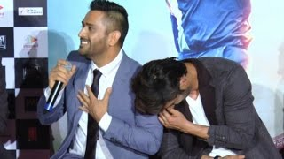 M.S. Dhoni Funny Reply To Reporters At M.S Dhoni The Untold Story Trailer Launch