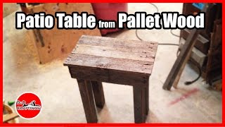 Patio Table from Pallet Wood