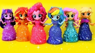 Equestria Girls Princess Toys Surprises! My Little Pony Switch Disney Princess Magiclip Dress Kids