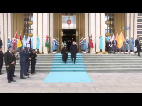 Cumhurbaşkanı Erdoğan, Ürdün Kralı II. Abdullah'ı Resmi Törenle Karşıladı