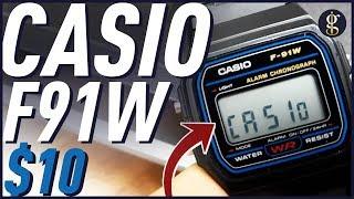 THE $10 LEGEND | Casio F91W Review | Retro Digital Sport Watch w/Resin Strap