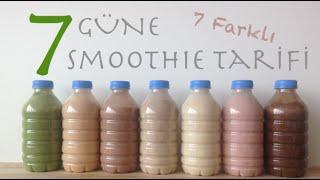 7 Güne 7 Farklı Smoothie Tarifi