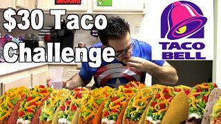 Taco Bell $30 Challenge - Eat Every Taco on The Menu! | FreakEating vs the World 128