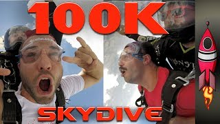 🔴 100K Subscribers INSANE SKYDIVING | Rockit Gaming🚀