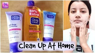Clean & Clear Clean Up At Home    One Brand Clean Up
