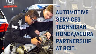 BCIT partners with Honda/Acura for Automotive Service Technician Program