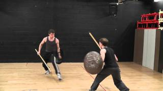 Bristol Old Vic Theatre School advanced fight test - Spear and Shield
