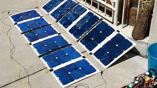 Homemade 240W folding solar panels with 300W Turnigy Reaktor