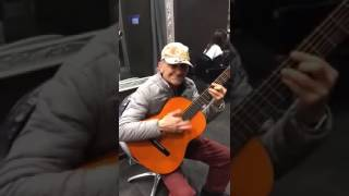 Old man plays The Good The Bad and the Ugly Theme