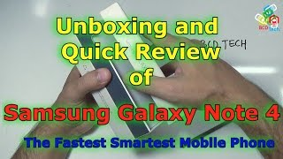 Samsung Galaxy Note 4 (SM-N910G): Un-boxing and Quick review of India Version