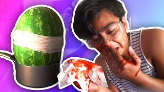 EXPLODING WATERMELON CHALLENGE! (EXTREME)