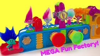 Trolls Movie Poppy Branch Play Doh Mega Fun Factory Machine Conveyor Toy Play Dough | Fizzy Toy Show