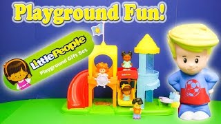 LITTLE PEOPLE Fisher Price Little People Playground a Littl People Video YouTube Toy Review