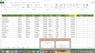 Microsoft Excel 2013 Tutorial in Bengali – (Part 9) - Advance Salary Sheet