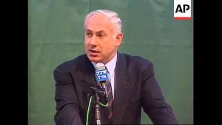 Israel/Gaza-Benjamin Netanyahu meets Yasser Arafat