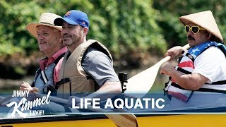 Bill Murray, Jimmy Kimmel & Guillermo's Dirty Canoe Ride in Brooklyn