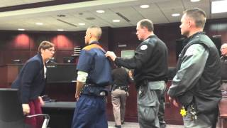 Watch as accused murderer yells at witness, victim