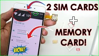 Use DUAL SIM & MEMORY CARD AT THE SAME TIME IN ANY SMARTPHONE!