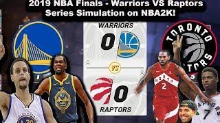 Simulating the 2019 NBA Finals on NBA2K19! - Warriors VS Raptors (Live Games)