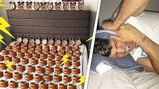 SETTING OFF 300 ALARM CLOCKS AT 3AM PRANK!!!