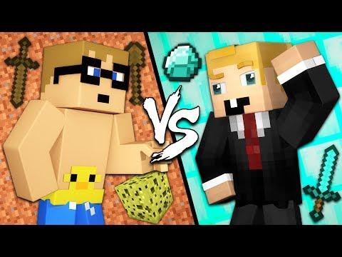 Smart Noob vs. Stupid Pro - Minecraft