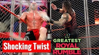 Roman Reigns Vs Brock Lesnar Steel Cage Match Greatest Royal Rumble 27 April 2018 !