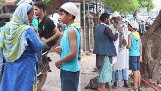 Muslim Boy Asking For Food During Ramzan   Shocking Reactions   Funk You