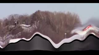 Train Goes Thug on Ginormous Snowbank