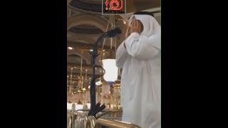 مؤذن يؤذن لأول مره في الحرم المدني شاهد ردة فعله || مؤثر جدا جدا !!