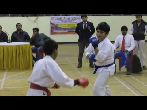 Aditya Raj from Goju ryu karate fedration played final match of Karate for Gold medal in Patna