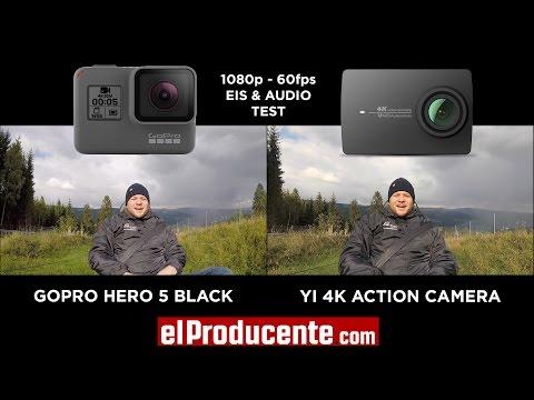 GoPro HERO5 black vs YI 4K Action Camera - 1080p 60fps + Audio Test
